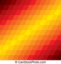 abstract colorful background of diamond geometric shapes- vector graphic. This illustration consists of repetitive diamond shaped pattern made of orange, red, brown colors
