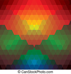 abstract colorful background of diamonds & triangles shapes- vector graphic. This illustration has repetitive diamonds, rhombus & triangles shaped pattern made of orange, red, brown, blue, green colors