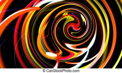 Abstract colorful background on black