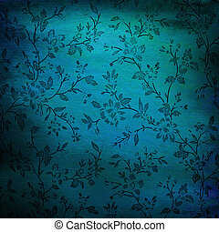 Abstract colorful background or paper with flower-theme grunge texture