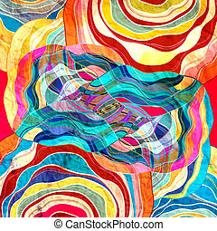 Abstract colorful background - Watercolor abstract colorful...