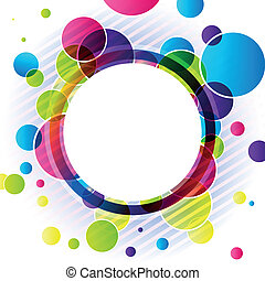 Abstract colorful background - Vector illustration of an...