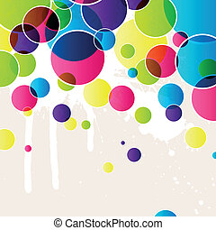 Vector illustration of an abstract colorful background