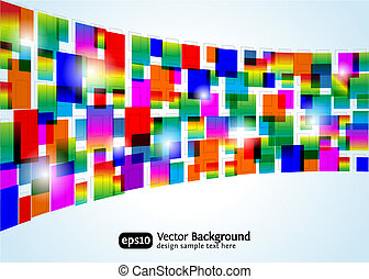 Abstract colorful background. Vector rectangle design