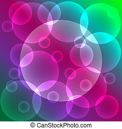 Abstract colorful background with bubbles and place for text
