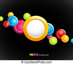 Abstract colorful background with circles.