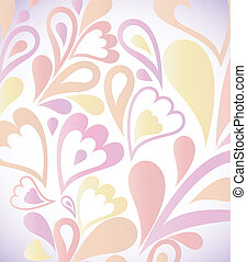 Abstract colorful background with floral. Vector