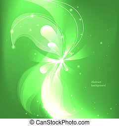 Abstract colorful background with flowers