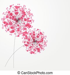 Abstract colorful background with flowers. Vector illustration