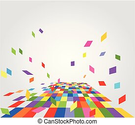 Abstract colorful background with geomentic pattern