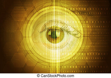 Abstract colorful background with human eye