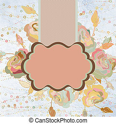 Abstract colorful background with flowers. EPS 8