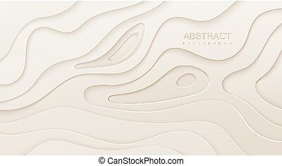 Abstract colorful background with paper curved layers.