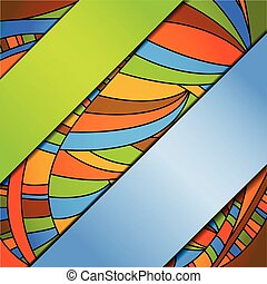 Abstract colorful background with ribbons.