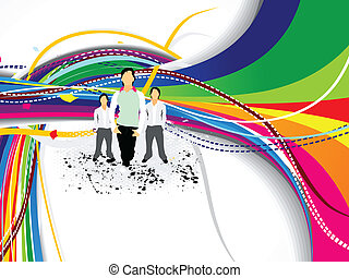 abstract colorful background with s
