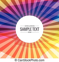 abstract colorful background with transparent rays