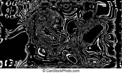 Abstract colorful background with visual wave oil blot on black, 3d render computer generating