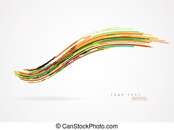 Abstract colorful background with wave.