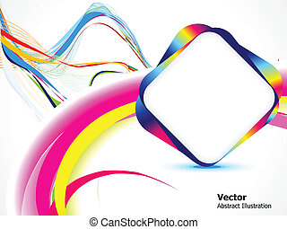 abstract colorful background with w