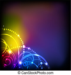 Abstract colorful backround. - Abstract colorful lights...