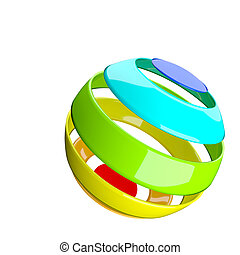 abstract colorful ball on white background