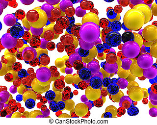 Abstract colorful balls isolated on white