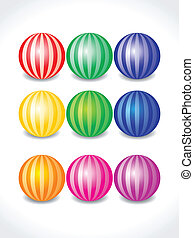 abstract colorful balls set vector