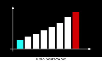 """Abstract Colorful Bar Graph Chart"""
