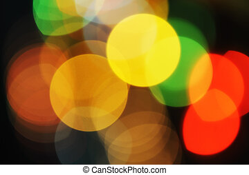 Abstract colorful beautiful lights in the night