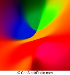 Abstract Colorful Blue Red Background - Fancy Creative Rainbow Colored Art - Blurred Elegant Colourful Illustration - Orange Blue Web Banner Backdrop - Simple Glowing Picture - Vivid And Vibrant