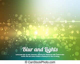 Abstract colorful bokeh background. Festive background with defocused lights. Magical background with colorful bokeh.