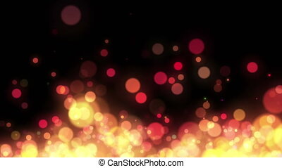 Abstract Colorful Bokeh Particles Loop Background