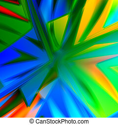 Abstract Colorful Boom Background