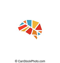 Abstract colorful brain vector