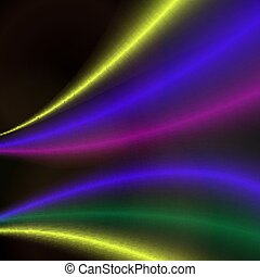 Abstract colorful bright wave design.