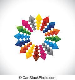 Abstract, colorful & brilliant creative design star symbol