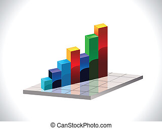 abstract colorful business chart