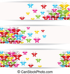 Abstract colorful butterfly design