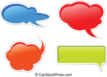 abstract colorful chat baloons
