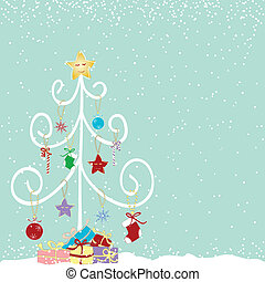 Abstract colorful christmas tree
