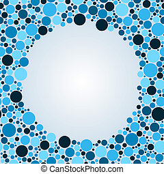 Abstract colorful circle background