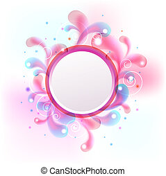 abstract colorful circle banner for your text