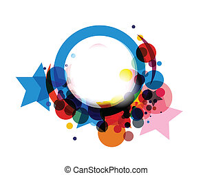Abstract colorful circle