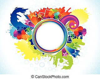 abstract colorful circle explode