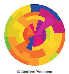 Abstract colorful circle, vector