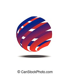 Abstract colorful circle vector