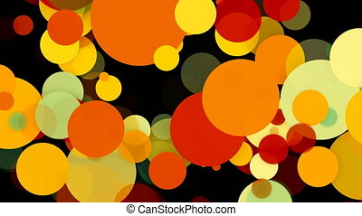 Abstract colorful circles background. 3d rendering animation backdrop