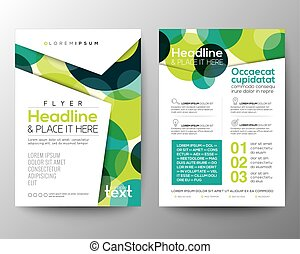 Abstract colorful circles background for Poster Brochure Flyer design Layout vector template