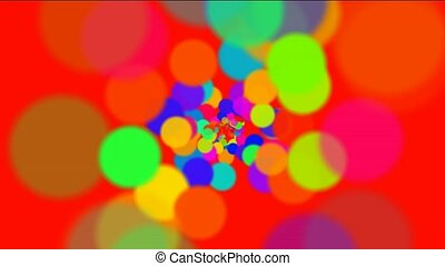 abstract colorful circles loop,bubble and blister...