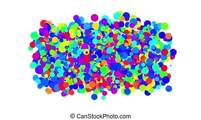 abstract colorful circles,bubble & blister array background,dancing dots & part
